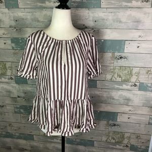 NWT Madewell peplum style top size S